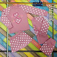 Костюм трикотажный с юбкой девочек, размер 92/100,104/110, 110/116 см