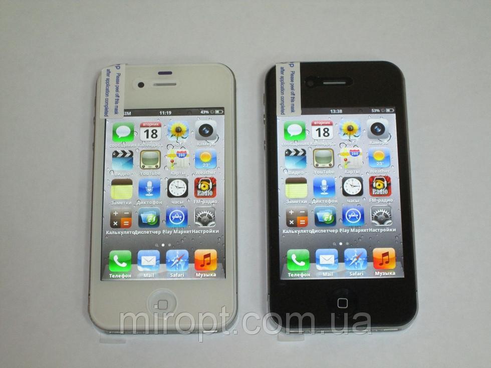 Телефон iPhone 4S Android4 - 1Sim + 8Gb + WiFi