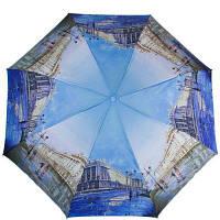 Женский компактный зонт полуавтомат zest z24665-1090 голубой
