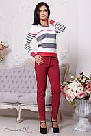 Женский свитер в полоску 2088 Seventeen 42-48 размеры