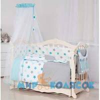 Детская постель TWINS 3D Stars S-001 blue (6553)