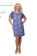 Воздушное платье из шифона с 46 по 52 размер 3 цвета