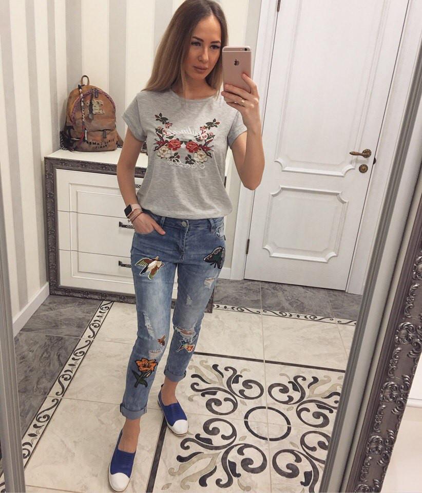 Красивейшие женские джинсы с вышивкой