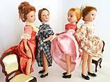 """Колекційна лялька """"Дами епохи"""" у біло-кораловому (18 див.), фото 5"""