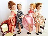 """Коллекционная кукла """"Дамы эпохи"""" в бело-коралловом (18 см.), фото 5"""