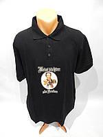 084Ф Мужская фирменная  футболка-поло B&C р. 52