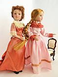 """Колекційна лялька """"Дами епохи"""" в персиковому вінтаж (18 див.), фото 4"""