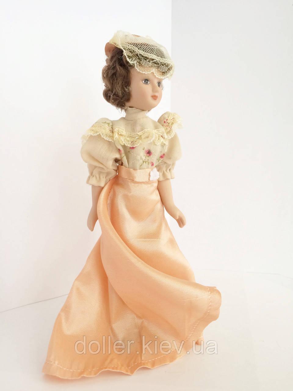 """Колекційна лялька """"Дами епохи"""" в персиковому вінтаж (18 див.)"""