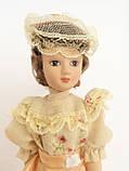 """Колекційна лялька """"Дами епохи"""" в персиковому вінтаж (18 див.), фото 2"""