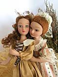 """Колекційна лялька """"Дами епохи"""" в персиковому вінтаж (18 див.), фото 6"""