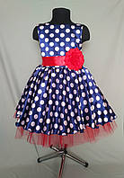 Нарядное платье в горох в ретро-стиле