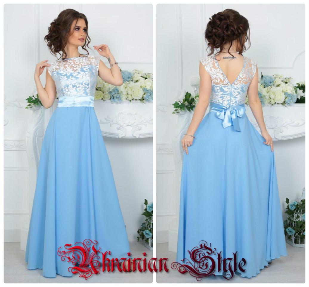 e9809fe92aa Длинное вечернее платье без рукавов - Интернет-магазин