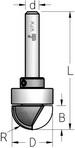 Фреза гравировальная закругленная с верхним подшипником WPW Израиль D16-B9-L52-d6
