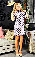 Красивое удобное женское платье с воротничком