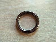 """Кольцо -карабин """"Черный никель"""" 34 мм"""