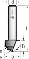 Фреза гравировальная профильная врезная WPW Израиль D12,7-B9-L51-d6