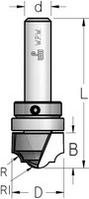 Фреза гравировальная профильная врезная с верхним подшипником WPW Израиль D25,4-B16-L64-d6
