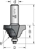 Фреза профильная калевочнострогальная с нижним подшипником WPW Израиль D25,4-B14-L53-d6