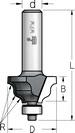 Фреза профильная калевочнострогальная с нижним подшипником WPW Израиль D20-B10-L47-d6