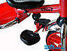 """Детский трехколесный велосипед Azimut (T-300 """"AL'')красный рама металик, фото 3"""