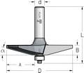 Фреза для обработки филенок WPW Израиль D85,7-B12,7-L71-d12