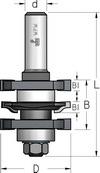 Фреза для мебельной обвязки (профиль-контрпрофиль), не требующая разборки-сборки WPW Израиль D41-B22-L79-d8