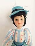 """Коллекционная кукла """"Дамы эпохи"""" в светло-голубом (18 см.), фото 4"""