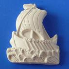 Барельеф Кораблик №1(полосатый парус) b05001