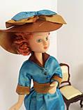 """Коллекционная кукла """"Дамы эпохи"""" в бирюзовой шляпе (18 см.), фото 3"""