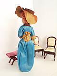"""Коллекционная кукла """"Дамы эпохи"""" в бирюзовой шляпе (18 см.), фото 4"""