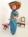 """Коллекционная кукла """"Дамы эпохи"""" в бирюзовой шляпе (18 см.), фото 2"""