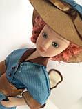 """Коллекционная кукла """"Дамы эпохи"""" в бирюзовой шляпе (18 см.), фото 5"""