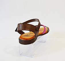 Босоножки коричневые на плоской подошве Presso, фото 2
