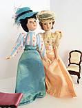 """Коллекционная кукла """"Дамы эпохи"""" в светло-голубом (18 см.), фото 3"""