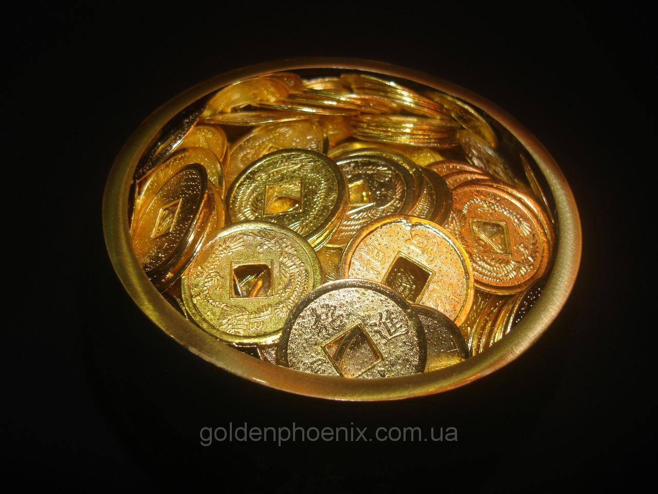 Монета золото фен-шуй 15