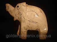 Слон яшма 2,5 дюйма, фото 1