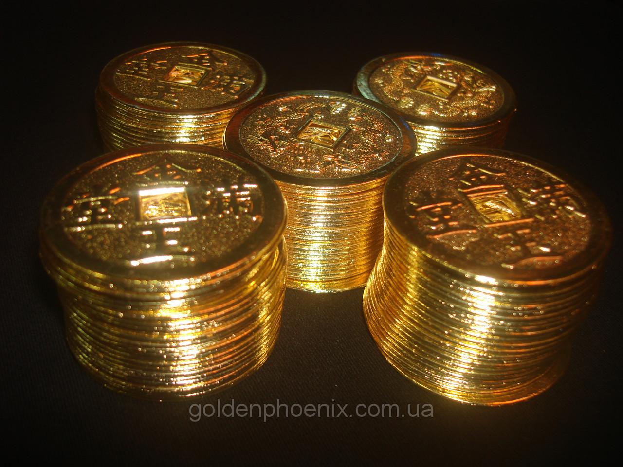 Монеты фен-шуй золотые 16