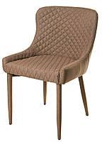 Стул  М-20, спинка, сиденье и ножки обтянуты бежевой тканью, мебель в стиле модерн, для дома, HoReCa, офиса, фото 1