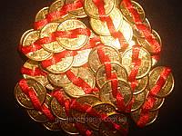 Монеты золотые по 3 шт 5