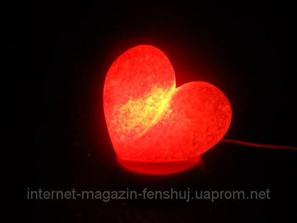 Соляная лампа - Сердце маленькое