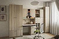 Комплект детской мебели Юниор дуб сонома, детская модульная мебель 3000*2050*520