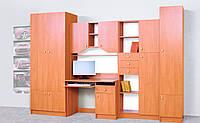 Комплект детской мебели Юниор софт, ольха, детская модульная мебель 3000*2050*520