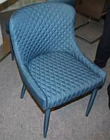 Стул М-20, спинка, сиденье и ножки обтянуты тёмно-синей тканью, стиль модерн, для дома, HoReCa, офиса