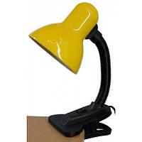 Настольная лампа Lemanso LMN076 жёлтая прищепка