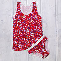 Костюм детский для девочек с цветочным узором Majestic Турция MJ0013 магазин детского белья