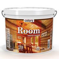 Лак с воском для деревянных панелей Room 20 COLORS, 9л. Доставка НП бесплатно.