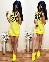 Женское модное худи-платье в спортивном стиле с капюшоном (5 цветов)