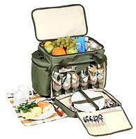 Набор для пикника на 6 персон HB6-520: 46 предметов, сумка с изотермическим отделом 20 л