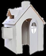 Картонный домик Разукрашка  (3-х слойнный картон)