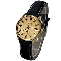 Позолоченные часы Ракета кварц сделано в СССР -腕表 luch ultra slim